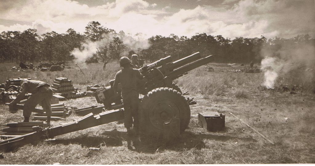 Howitzers at Lz Falcon